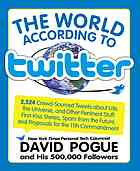 Book Review:  The World According To Twitter by David Pogue